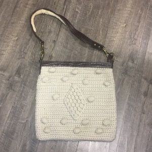 BCBG fall knit crochet purse!